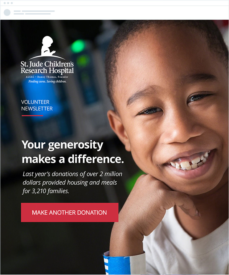 St. Jude Children's Research Hospital Nonprofit Newsletter Donations