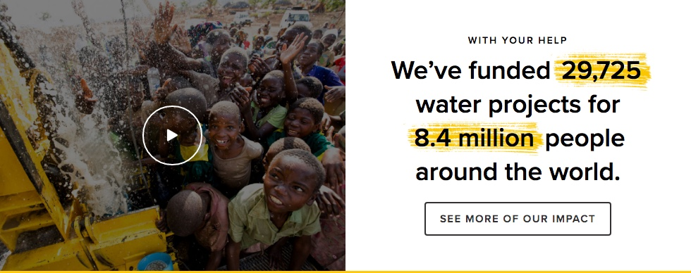 charity water nonprofit data