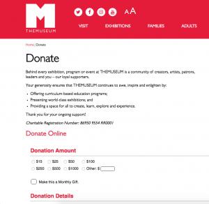 Nonprofit Donation Page