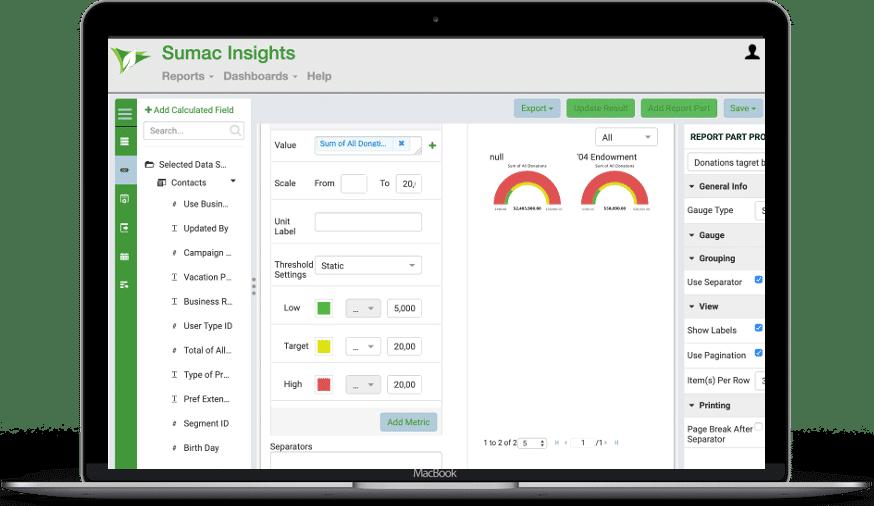 Sumac Insights Metric Track