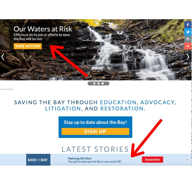 Nonprofit Marketing Website Carousel
