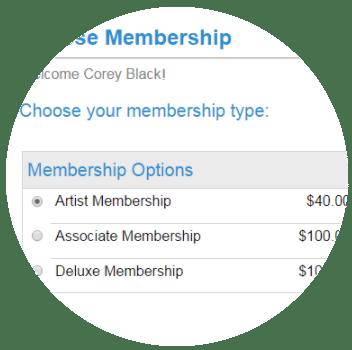 Membership-management-signup-website