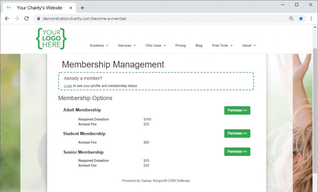 membership-signup-website