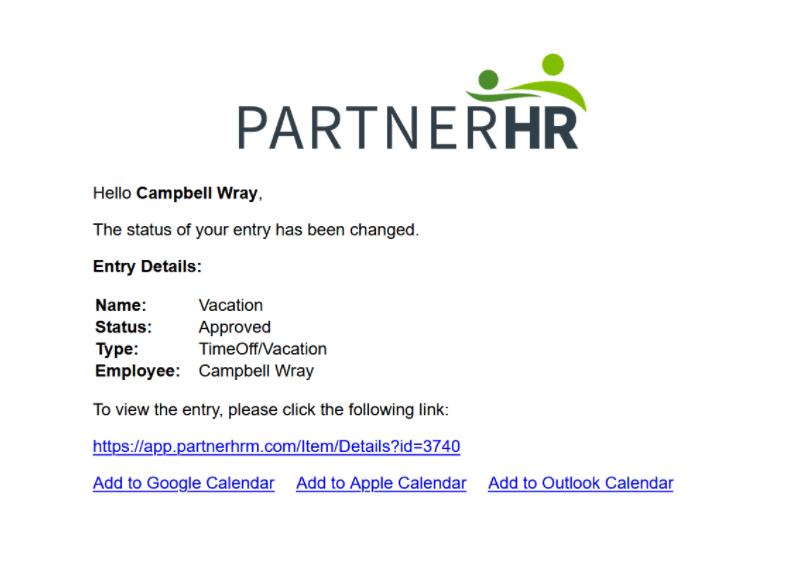 partner HR Calendar Integration