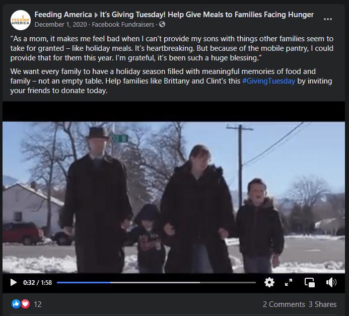 giving tuesday campaign ideas feeding america
